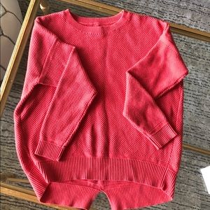 NWOT Ann Taylor Loft bright melon sweater. Sz SP